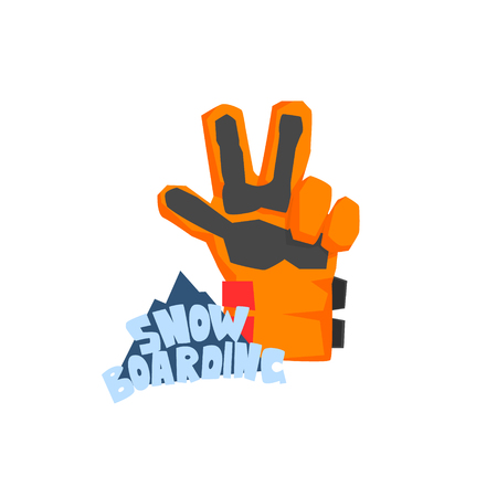 snowboarding: Snowboarding Glove Illustration