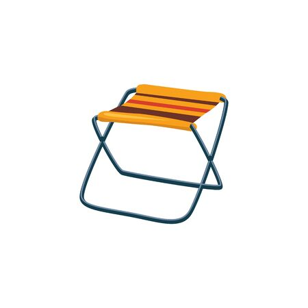 foldable: Foldable Camp Chair Cartoon Simple Style Colorful Isolated Flat Vector Illustration On White Background Illustration