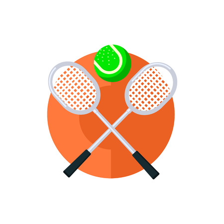 wimbledon: Tennis Round Sticker In Minimalistic Bright Colorful Flat Vector Design Isolated On White Background