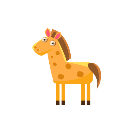 simplified: Horse Simplified Cute Illustration In Childish Flat Vector Design Isolated On White Background Illustration