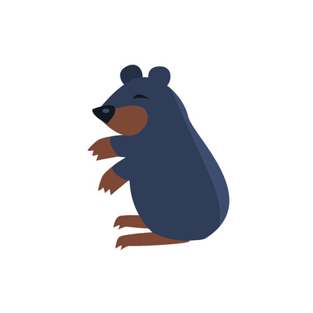 simplified: Sleeping Bear Simplified Cute Illustration In Childish Flat Vector Design Isolated On White Background