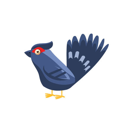 simplified: Black Grouse Simplified Cute Illustration In Childish Flat Vector Design Isolated On White Background