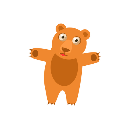 simplified: Toy Bear Simplified Cute Illustration In Childish Flat Vector Design Isolated On White Background