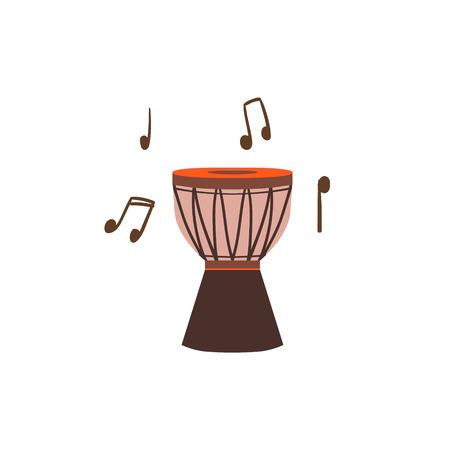 childish: National Brazilian Drum Flat Isolated Colorful Vector Design Illustration On White Background