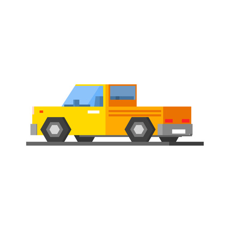 mega city: Yellow Car Vector Design Simple Graphic Illustration On White Background