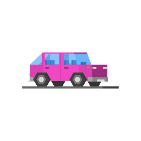 purple car: Purple Car Vector Design Simple Graphic Illustration On White Background