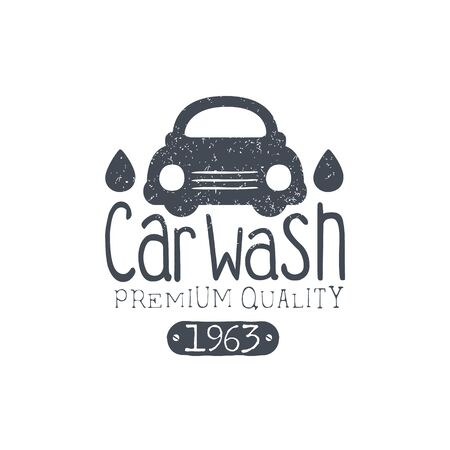 carwash: Carwash Vintage Stamp Classic Cool Vector Design With Text Elements On White Background