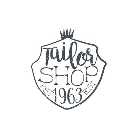 tailored: Tailor Shop Vintage Emblem.