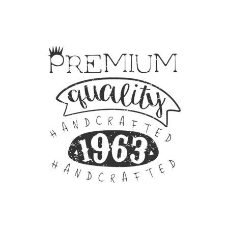 established: Handcrafted Clothing Vintage Emblem.