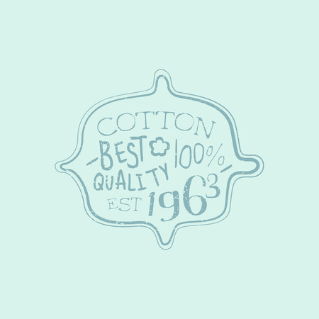 tailored: Hundred percent Cotton Vintage Emblem. Illustration