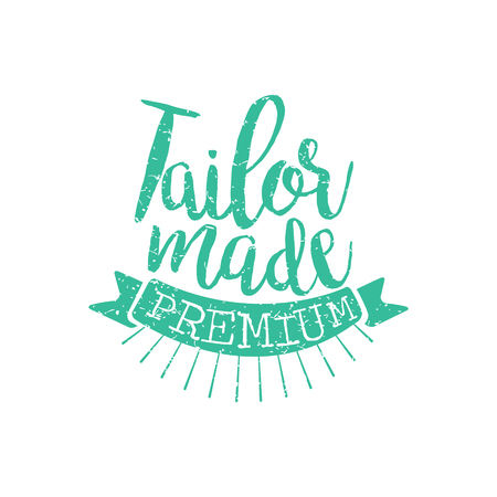 tailored: Tailor Made Vintage Emblem.