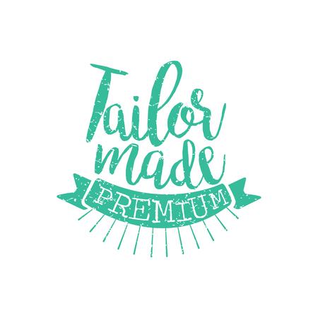 Tailor Made Vintage emblemat. Ilustracje wektorowe
