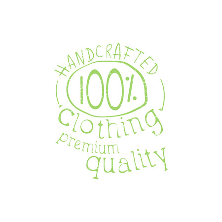 handcrafted: Premium Handcrafted Clothing Vintage Emblem. Illustration