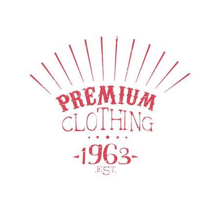 established: Premium Clothing Vintage Emblem. Illustration