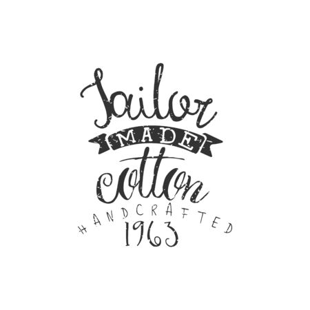 tailored: Tailor Made Cotton Vintage Emblem.