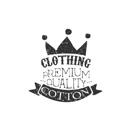 specially: Cotton clothing Black And White Vintage Emblem. Illustration