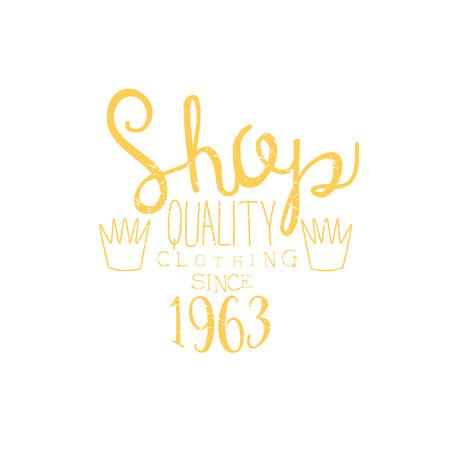 tailor shop: Tailor Shop Yellow Vintage Emblem.