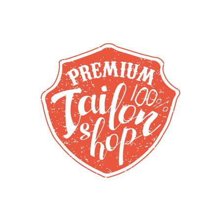 tailor shop: Premium Tailor Shop Vintage Emblem. Illustration