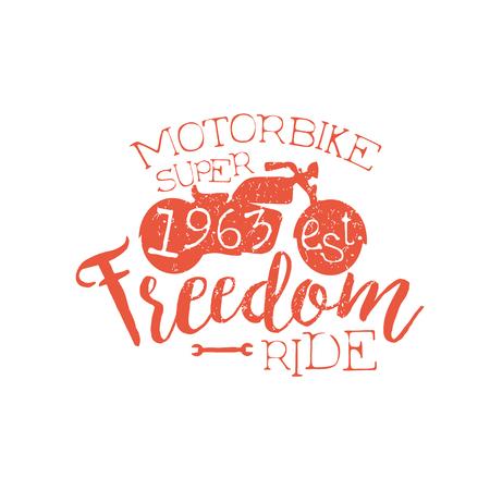 established: Best Motorbike Orange Vintage Emblem.