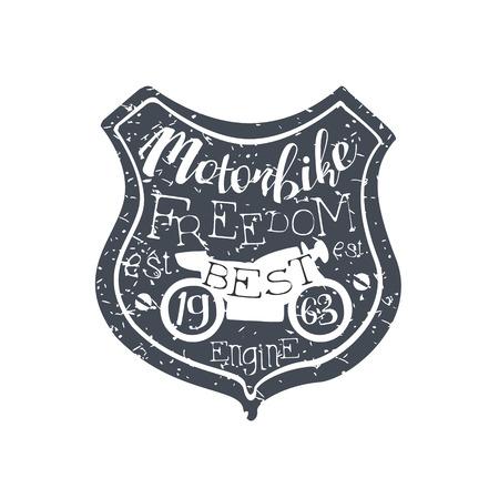 established: Motorbike Freedom Vintage Emblem.