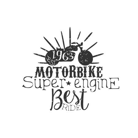 established: Motorbike Super Engine Vintage Emblem. Illustration