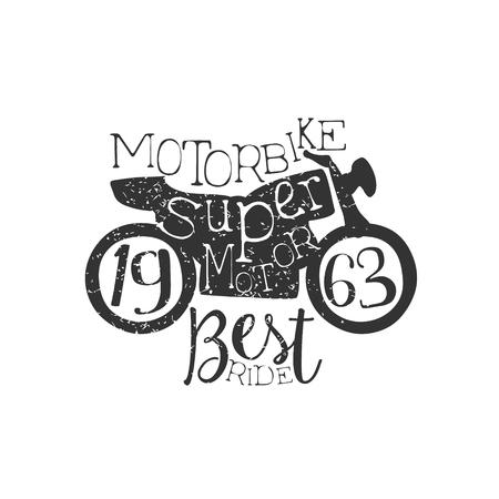 established: Super Motor Vintage Emblem. Illustration