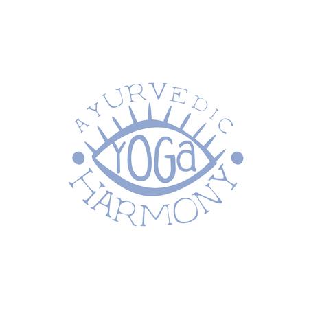 oriental medicine: Oriental Yoga Hand Drawn Promotion Sign. Meditation Studio Advertisement Board. Cool Calligraphic Hand Drawn Vector Advertisement For Yoga Studio