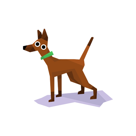 friend  nobody: Greyhound Racing Dog Bright Color Simplified Geometric Style Flat Vector Illustrations On White Background Illustration