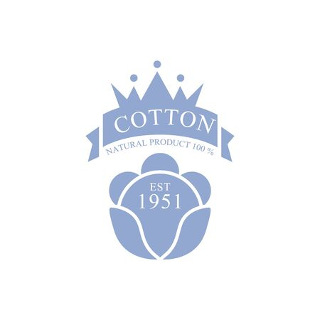 established: Cotton Product Vector Classic Style Design On White Background Illustration