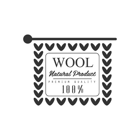 wite: Wool Black And White Product Vector Classic Style Design On White Background Illustration
