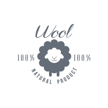 Natural Wool Product   Vector Classic Style Design On White Background