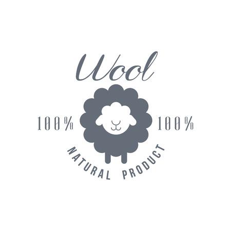 Natuurlijke Wol Product Vector Klassieke Stijl Ontwerp Op Witte Achtergrond