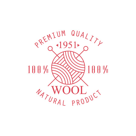 clew: Premium Quality Wool Product   Vector Classic Style Design On White Background Illustration