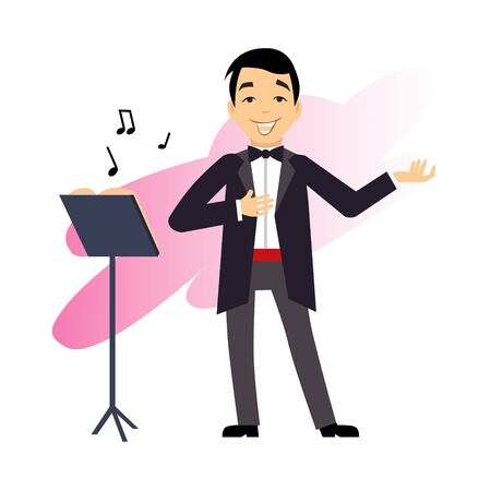 stage costume: Male Singer illustration in modern style for different use