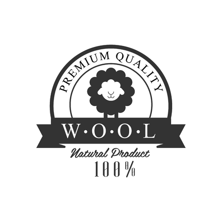 Quality Wool Product Design Vector Classic Style Design On White Background