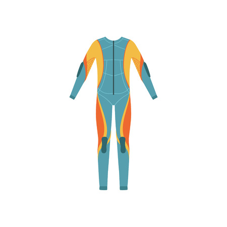 neoprene: Full Body Neoprene Diving Suit Without A Hood Bright Color Cartoon Simple Style Flat Vector Illustration Isolated On White Background Illustration