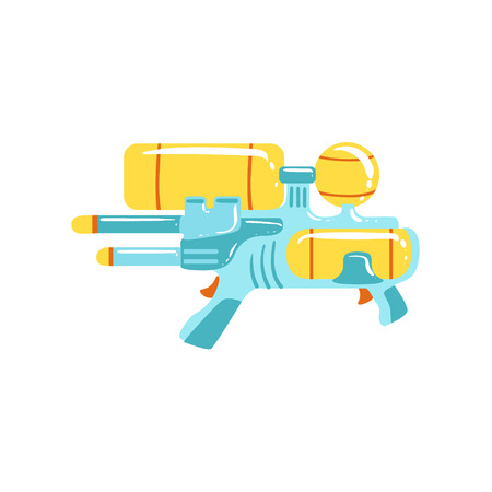Colorful Fantastic Water Gun Colorful Flat Bright Color Vector Illustration On White Background