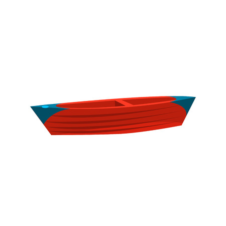 peddle: Simple Peddle Toy Boat Bright Color Icon In Simple Childish Style Isolated On White Background Illustration