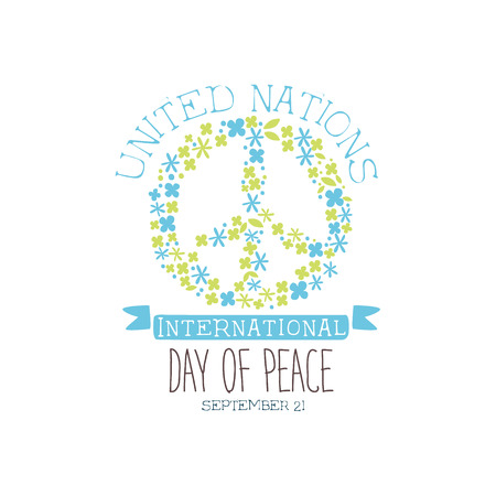 International Peace Day Label Designs In Pastel Colors. Vector ...