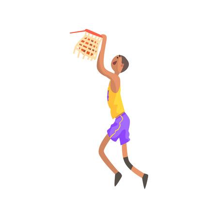 Jugador De Baloncesto Volviendo La Bola En Una Etiqueta Engomada Del ...