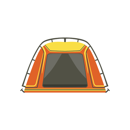 tarpaulin: Small Orange Bright Color Tarpaulin Tent. Simple Childish Vector Illustration Isolated On White Background Illustration