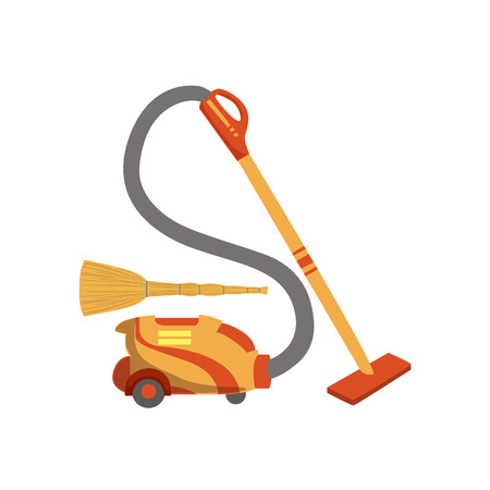 clean up: Floor CleaningHousehold Equipment Set. Clean Up Special Objects And Chemicals Composition Of Realistic Objects. Flat Vector Drawing On White Background Illustration