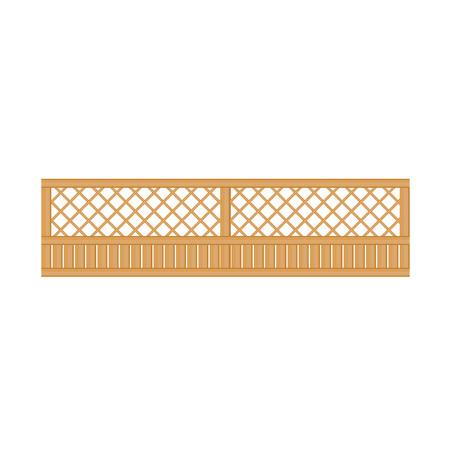 See-Through houten hek Ontwerpmalplaatje Element. Scherpen Creative Landschap Idea pictogram op witte achtergrond.