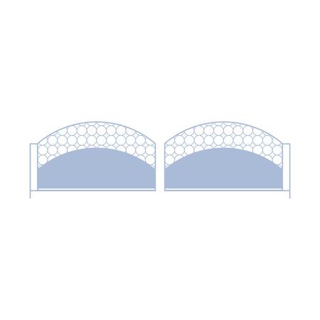 obstruction: Simple Metal Modern Fence Design Element Template. Edging Creative Landscape Idea Icon On White Background. Illustration