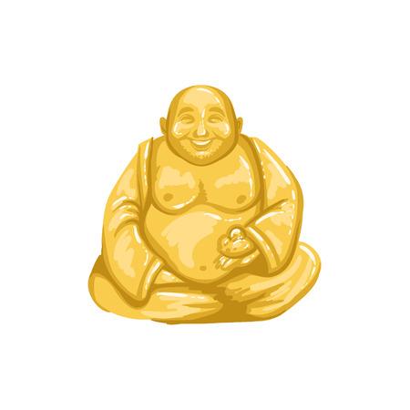 Netsuke Figurine Japanische Kultur Symbol. Isolierte Objekt darstellt Japan auf weißem Hintergrund