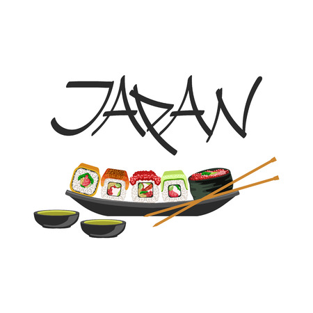 Sushi Japanese Culture Symbol. Isolated Object Representing Japan On White Background