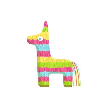 Pinata Mexican Culture Symbol. Isolated Bright Color Vector Object Representing Mexico On White Background Illustration