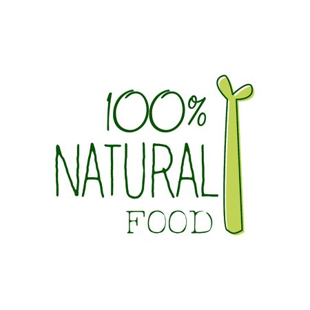 vegan food: Fresh Vegan Food Promotional Sign With Asparagus For Vegetarian, Vegan And Raw Food Diet Menu. Hand Drawn Advertisement For Natural Products And Healthy Lifestyle Eating. Illustration