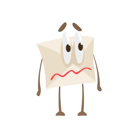quivering: Quivering Lips Humanized Letter Paper Envelop Cartoon Character Emoji Illustration Illustration