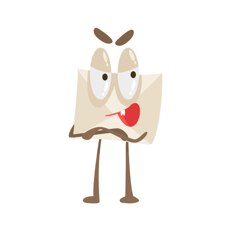 Told You So Humanized Letter Paper Envelop Cartoon Character Emoji Illustration